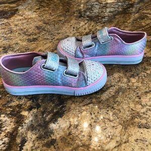 Skechers Twinkle Toes Glitter rainbow shoes EUC!
